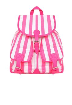 Arbre Striped Backpack In Pink