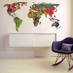 Adesivo Mapa Mundi