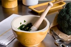 We've Got a CRUSH on Our Emile Henry Mortar & Pestle. The history of this wonderful kitchen (and pharmacology)tool dates back thousands of years. Kitchen Tools, Kitchen Gadgets, Emile Henry, Samos, Nutrition And Dietetics, Kitchen Store, Spice Blends, Mortar And Pestle, Kraut