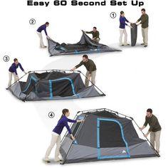 8cee79cf265 Ozark Trail 6-Person Dark Rest Instant Cabin Tent  59 Ozark Trail