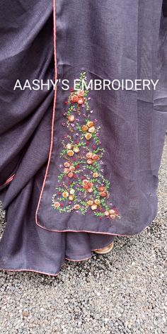 Saree Embroidery Design, Hand Embroidery Dress, Hand Embroidery Tutorial, Embroidery On Clothes, Hand Embroidery Designs, Beaded Embroidery, Abaya Designs, Blouse Designs, Organic Art