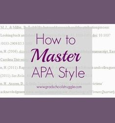 Check out these strategies for mastering APA style! | www.gradschoolstruggle.com