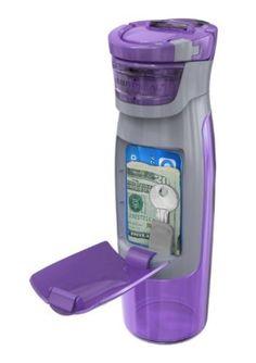 Contigo AUTOSEAL Kangaroo Water Bottle with Storage Compartment, 24-Ounce
