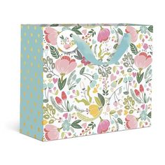 Dots and Floral Large Gift Bag