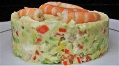 Ensaladilla de aguacate y langostinos - Videos de Cocina Avocado Recipes, Fish Recipes, Healthy Recipes, My Favorite Food, Favorite Recipes, Avocado Salat, Tasty, Yummy Food, Feta