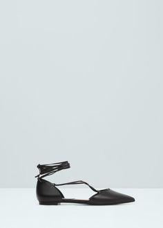 Sapato raso ponta