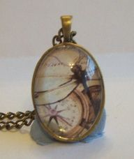 Handcrafted Antique Bronze Glass Pendant Dragonfly by DBHjewellery, $8.75