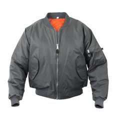 9411ddfe8c06 Rothco s Flight Jacket features a fully reversible Orange lining