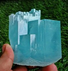 Natural Terminated Sky Blue Aquamarine from Pakistan Photo: rockngems Visit Amazing Geologist for more..