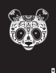 Artist Depicts Endangered Animals As Beautiful Sugar Skulls