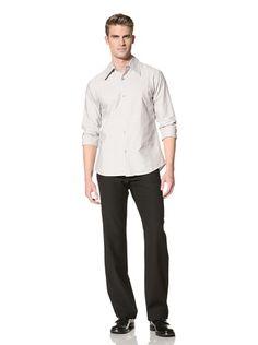 71% OFF MARNI Men\'s Textured Stripe Shirt (Dove Grey)