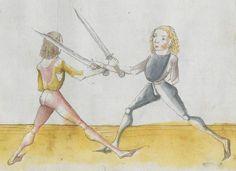 Lecküchner, Hans: Kunst des Messerfechtens Nordbayern, 1482 Cgm 582 Folio 365