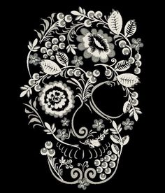 Natural Beautiful ilustration for The day of The dead. Neue Tattoos, Body Art Tattoos, Heart Tattoos, Bow Tattoo Designs, Sugar Skull Tattoos, Sugar Skull Sleeve, Skeleton Art, Skeleton Makeup, Candy Skulls