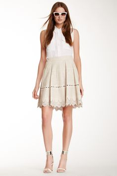 Ester Leather Skirt