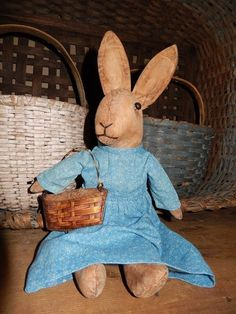 'Miss Cottontail' by Schneeman ~ Just beautiful and I love her wee little basket.