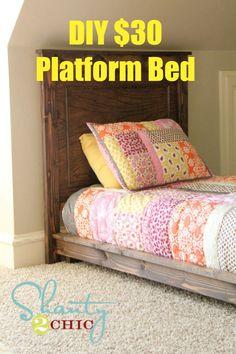 DIY $30 Twin-Size Platform Bed
