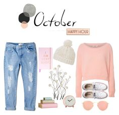 """""""Delicate October"""" by annasergeivna on Polyvore featuring мода, Glamorous, MANGO, Converse, Ray-Ban, Topshop, Universal Lighting and Decor и Rosanna"""
