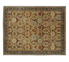 Eva Persian-Style Rug #potterybarn - great color for any of the room - great prices!!