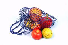 Eko shopping bag-Blue Vintage bag Avoska String-bag by Merrisson
