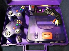 Special Edition Purple Nintendo 64 2 Controllers & Expansion Pack Carrying Case #Nintendo @ Ebay $200