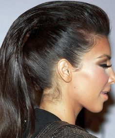 hair? who cares look at the highlighting and the shading! look at the color of her skin at her hair line. that is why she looks flawless all the time.  look at the lenght of  the lashes.  bone structure can take you far. but fake it until you make it...