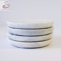 Marble Small Plates, Set of 4 Kitchenware, Tableware, Carrara, Marble Stones, Small Plates, Serving Plates, Plate Sets, Tablescapes, Kitchen Design
