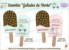 Party Printables :: Gelados de Verão :: Convites by Kids&Babies Design