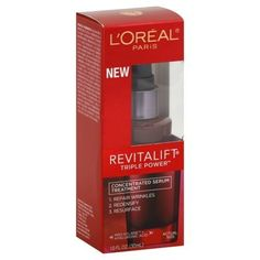 L'OREAL REVITALIFT TRIPLE POWER CONCENTRATED SERUM TREATMENT by L'Oreal Paris. $18.92. Serum Treatment, Concentrated. 1. Repair wrinkles. 2. Redensify. 3. Resurface. Pro-Xylane + Hyaluronic Acid. Why is Revitalift Triple Power Concentrated Serum right for me? Aging skin requires more intensive action to help restore its youthful look. With age, wrinkles become more permanent, skin loses its resilience and the face, neck and jawline begin to sag. The Innovation:...