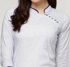 Chinese Collar Neck Designs 2015 for Kurti Shirt Kameez Salwar Chudidhar Designs, Chudi Neck Designs, Neck Designs For Suits, Dress Neck Designs, Blouse Designs, Sleeve Designs, Collar Kurti Design, Kurti Sleeves Design, Sleeves Designs For Dresses