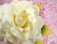 Large Millinery Creamy White Magnolia with Leaves for by APinkSwan, $11.00