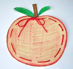Oodles of Apples - Tracing, Lacing & Weaving!