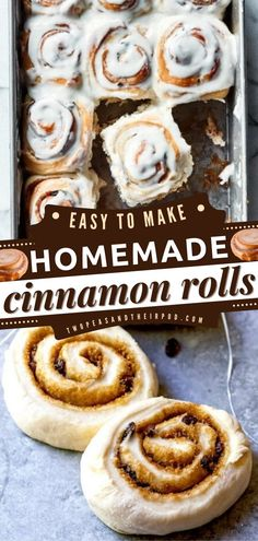 These Homemade Cinnamon Rolls are a holiday baking recipe that is sweet and perfect for the whole family. Add this recipe to your Christmas brunch menu!