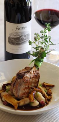 Grilled Pork Loin with Maitake and Cannellini--one of our chef's favorite fall recipes.