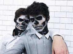 Jackson Krecioch and Dylan Geick on Halloween 2k17 Skeletons hottest couple #otp #gaycouple #jacksonkrecioch #dylangeick