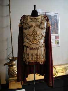 """Costume worn by Richard Burton in """"Cleopatra"""" (1963) - he was wearing mini-skirts the entire movie, very distracting..."""