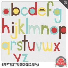 New CU Happy Festivus Products – Brushes, Doodled Frames, Stamps