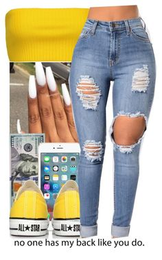 """Untitled #183"" by jezellee ❤ liked on Polyvore featuring Moschino and Converse"