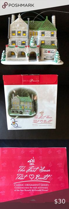 NIB Ronald McDonald House The House That Love Built Dept 56 Xmas Ornament