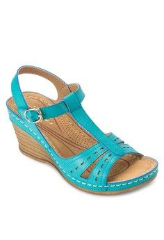T-Strap Wedges from SENTINI in blue_1