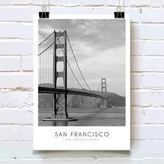 Το σύμβολο του Σαν Φρανσίσκο και ένα από τα πιο διάσημα αξιοθέατα της Αμερικής σε minimal σύνθεση με περιγραφή, σε poster. #cityposter #mapposter #SanFranciscoposter #πόλητουΣανΦρανσισκο #SanFranciscosbridge