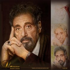 Painting in progress . . .  Series: `Inspiring Souls` ~ Al Pacino Oil on canvas (70x50cm) ©by LaFemme #Art #Artist #Painting #OilPainting #Portrait #AlPacino #LaFemme