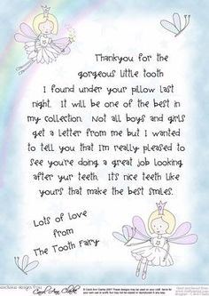 toothfairy letter