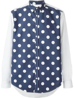 Shop MSGM contrast sleeve polka dot shirt in Bugatti Uomo from the world's best independent boutiques at farfetch.com. Over 1000 designers from 300 boutiques in one website.