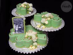 Elegant pastel shamrock cakes #stpatricksday #stpatricksdaydesserts