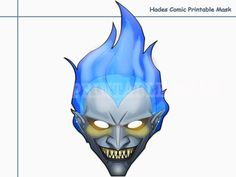 Unique Hades Comic Printable Maskpartyphoto by AmazingPartyShop