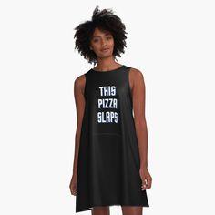 This Pizza Slaps by Maxdash   Redbubble Powerful Women, Ladies Day, Skirt Outfits, I Dress, Shirt Dress, Girl Power, Woman Power, Chiffon Tops, Designer Dresses