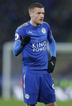 Jamie Vardy of Leicester City during the Premier League match between Leicester City and Swansea City at The King Power Stadium on February 3, 2018 in Leicester, England.