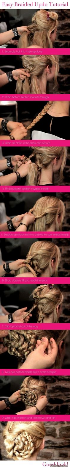 braided updo tutorial - 99 Hairstyles Ideas