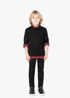 Cotton wool-blend sweater | MANGO KIDS