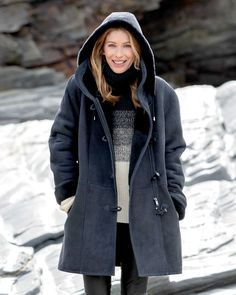 【Clearance Sale💥Shipped Within 24h】Hooded Toscana Coat - inkshe.com Sheepskin Jacket, Coat Sale, Duffle Coat, Winter Mode, Shearling Coat, Outerwear Women, Lightweight Jacket, Coats For Women, Long Sleeve